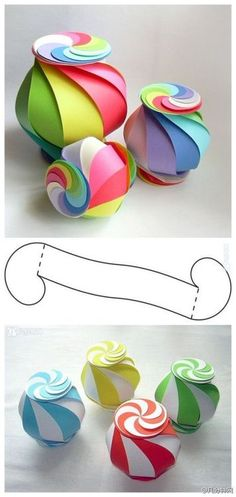 cute idea for any package or holiday display...just change the colors.  Christmas - red/green/white  Easter - pastels