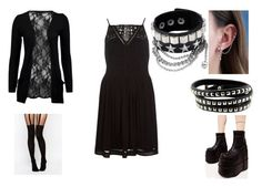"""""""Black thing 4"""" by melloushimawa on Polyvore featuring moda, WithChic, River Island, Demonia, ASOS y DOSE of ROSE"""