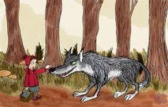 Резултат с изображение за Little Red and the wolf