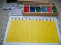 Decimal Board from George Family Blog about Lower and Upper elementary Homeschool Montessori