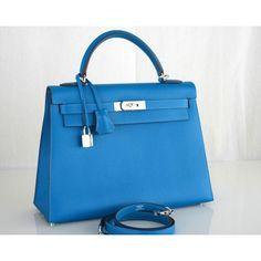 Mykonos Epsom 32cm Kelly Bag | Hermès
