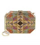 Crystal Hexagonal Rectangle Clutch  $3995.00