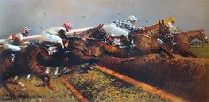 Two Mile Chasers Limited Edition Horse Racing Print by Peter Curling