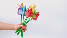 Eenvoudige tulpen vouwen; de oplossing voor slaphangende tulpen.
