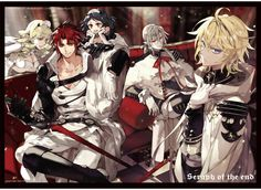 Seraph of the End / Owari no Seraph vampires including Mikaela Hyakuya, Ferid Bathory and Crowley Eusford