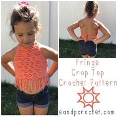 I was recently requested to write up a pattern for a kids fringe crop top! Even though it's only 50 degrees out today it's hot in other parts of the world right?! So the fringe crop top was born! I think it's definitely a crochet pattern staple to have when you have little ones running around. It's super cute for photo shoots or to just wear outside during the hot summer days. I included 3 different sizes but it is VERY easy to adjust even further if you need to. To make it wider, add…