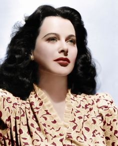 A look at Hedy Lamarr, an inventor during World War II and world-famous actress. Hollywood Glamour, Hollywood Stars, Classic Hollywood, Old Hollywood, Hedy Lamarr, Actrices Hollywood, Mode Vintage, Famous Women, Famous People