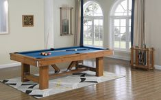 Playcraft Willow Bend Slate Pool Table Felt Color: Electric Blue, Size: H x W x L Pool Table Sizes, 8 Pool Table, A Table, Pool Table Felt Colors, Table Games, Game Tables, Bumper Pool Table, Multi Game Table, Shuffleboard Table