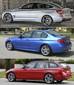BMW 3 Series GT vs Sedan vs Touring Visual Comparison
