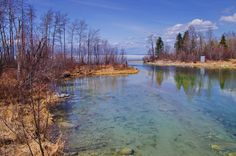 The western end of the Boreal Trail starts at Cold Lake - and yes that's ice on the lake over the May long weekend
