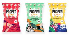 Propercorn unveils new designs