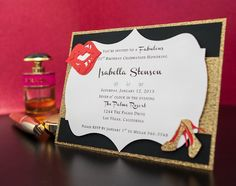 Channel Inspired Invitation by EmbellishedPaper on Etsy, $3.00. I think I can make something similar to this