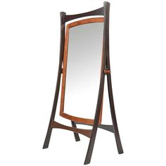 Danish Wenge and Teak Cheval Dressing Mirror | From a unique collection of antique and modern floor mirrors and full-length mirrors at http://www.1stdibs.com/furniture/mirrors/floor-mirrors-full-length-mirrors/
