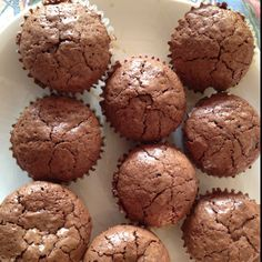 Flourless double chocolate oatmeal muffins