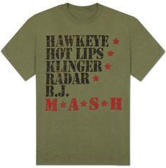 Hawkeye  Hot Lips  Klinger  Radar  B.J.  M.A.S.H