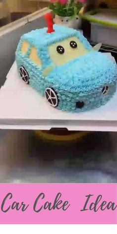 Cake Decorating Videos, Birthday Cake Decorating, Cool Birthday Cakes, Cake Decorating Techniques, Cake Frosting Recipe, Frosting Recipes, Cookie Recipes, Car Cake Tutorial, Doctor Cake
