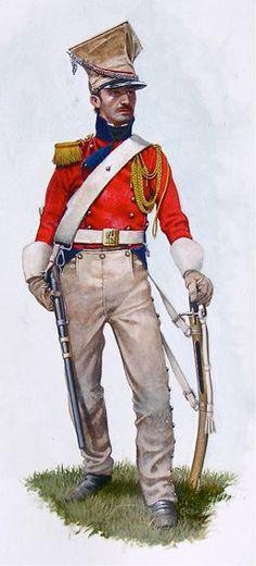 Cavalleggero del 2 rgt. Lancieri della guardia imperiale francese in uniforme da campagna