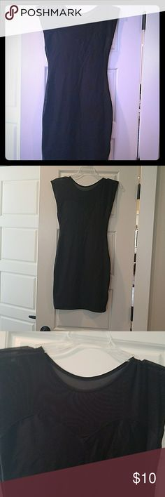 American Apparel long tunic/dress Black with a mesh like top  it's a size M/L but this brand runs small in my opinion American Apparel Dresses Mini
