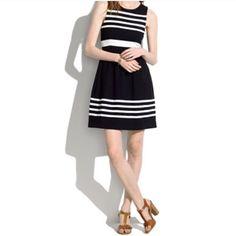 Madewell Black Dress With Stripe