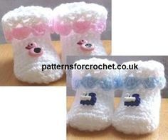 Free baby crochet pattern cutie booties usa