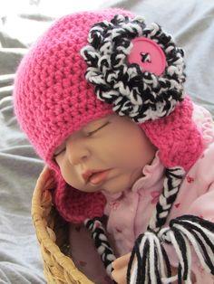 Easy Basic Earflap Hat Crochet Pattern 6 sizes included PDF 135