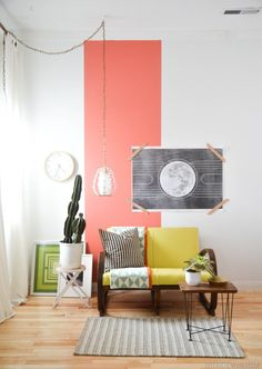 Interior Inspiration - Chartreuse + Coral