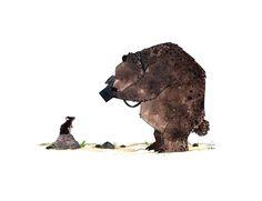 Bear and Mouse, Morgan O'Brien Art And Illustration, Watercolor Illustration, Animal Illustrations, Animal Sketches, Art Sketches, Art Drawings, Happy Birthday In German, Bear Art, Aboriginal Art