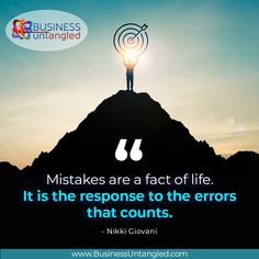 Never let mistakes pull you down. Make the most of them by using them as learning experiences. To stay on the right path to business success, call us at Business Untangled! 469-458-0447 or visit: www.businessuntangled.com #business_untangled #successmindset #successcoach #successtips #motivationalmonday #mondaythoughts #mistakes #failures #TakingRisks