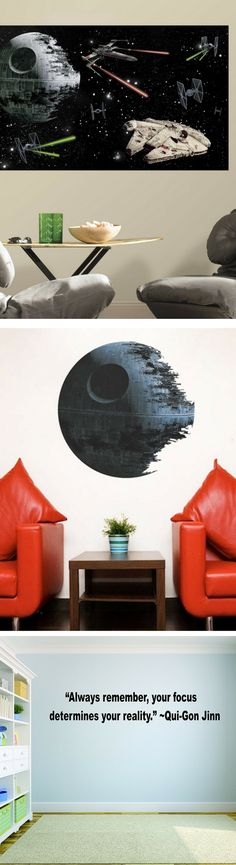 Star Wars Wall Stickers Blast into your Living Room - Star Wars Decals #starwars #stickers #decals #decor