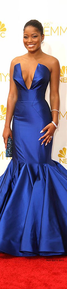 Emmys 2014 ♔ Keke Palmer in Rubin Singer, Chopard Jewelry. Amazing fit going on here. I don't even love the dress but it suits her so well. Celebrity Prom Dresses, Celebrity Outfits, Celebrity Look, Oscar Dresses, Gala Dresses, Dress Outfits, Perfect Fall Outfit, Dress Images, Red Carpet Looks