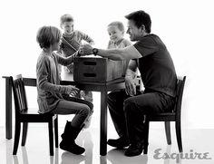 Mark Wahlberg Family Photos - Mark Wahlberg Fatherhood Story - Esquire