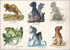 Tail Draggers by Rodrigo-Vega on DeviantArt Dinosaur Time, Dinosaur Art, Pet Monsters, Spinosaurus, Prehistoric Creatures, Creature Concept, Tyrannosaurus, Prehistory, Creature Design