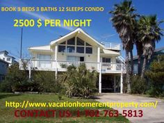 Interested in renting a vacation home for your holiday to spend some lovely time with your family? Vacation Home Rentals has a property suitable for your standards at affordable price, a 3 beds, 2 baths and 12 sleeps condo, in the heart of downtown, with facilities like free internet access, cable TV, washer/dryer, water cooler, and fully air-conditioned rooms, closely situated to various amenities at reachable distance, the property is available at just $2500 per night. So go ahead and…