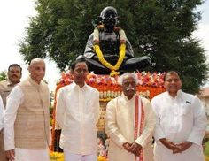 Observed two minutes silence and paid tributes to #MahatmaGandhi on the occasion of Mahatma Gandhi Vardhanthi at Bapu Ghat, Hyderabad along with Shri E.S.L.Narsimhan, Hon'ble Governor of Telangana & A.P. and Telangana CMO, Hon'ble Chief Minister, Govt of Telangana, Shri N.Narsimha Reddy, Hon'ble Minister for Labour & Home, Govt of Telangana, Shri T.Srinivas Yadav, Hon'ble Minister for Cinematography, Govt of Telangana, Shri T.Padma Rao, Hon'ble Minister for Excise, Govt of Telangana, Shri…