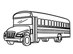 100 Free Vehicle Coloring Pages Color in this picture of a Bus