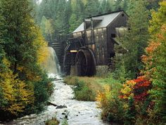 Grist mill is located at King's Landing Historical Settlement near Fredricton - New Brunswick, Canada.