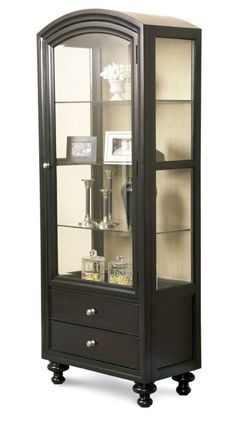 Bunching Curio Cabinet - I want this Antique Curio Cabinet, Crockery Cabinet, Cabinet Decor, Cabinet Makeover, Curio Cabinets, Display Cabinets, Upcycled Furniture, Cool Furniture, Corner Curio
