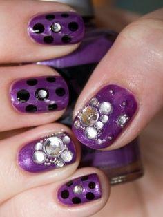 Pretty purple & polka dots
