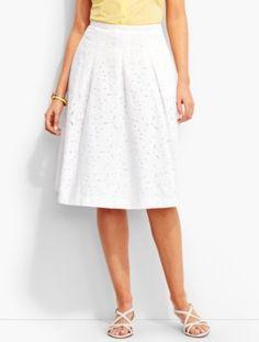 Daisies & Dots Eyelet Skirt | Talbots