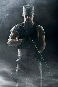 There's just something about military men and Law Enforcement men! Delicious!  I want one!