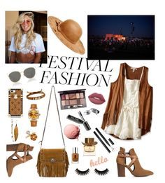 """""""Cochella 2017"""" by itsoa ❤ liked on Polyvore featuring Christian Dior, H London, Coach 1941, Iman, Lime Crime, Bobbi Brown Cosmetics, Burberry, Clinique, Jules Smith and Rolex"""