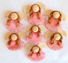 Поделки ангелочки из соленого теста