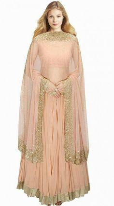 Shop For Indian Lehenga Choli at Utsav Fashion - The largest online collection of lehenga, ghagra, chaniya choli in latest stunning designs. Pakistani Dresses, Indian Dresses, Indian Outfits, Indian Lehenga, Lehenga Choli, Sharara, Sari, Indian Bridal Wear, Indian Wear