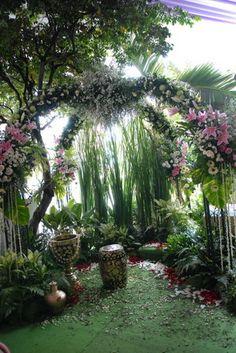 Javanese wedding shower decoration