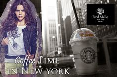 Coffee time in new york...Fred Mello woman #fredmello #fredmello1982 #newyork #accessories #womancollection #springsummer2013 #accessible luxury #cool #usa #
