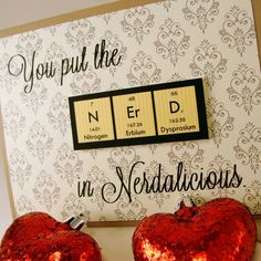 Nerdalicious Science Valentines Card Yellow and by ShopGibberish, $4.50......Hilarious, LOVE IT