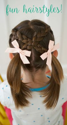 Very Easy Hair Styles for Girls: From Toddlers to School Age 6 easy styles for girls hair, short hair styles, best bows, cool braid hairstyles,. Very Easy Hairstyles, Baby Girl Hairstyles, Cool Braid Hairstyles, Different Hairstyles, Trendy Hairstyles, Hairstyles 2016, Easy Little Girl Hairstyles, Kids School Hairstyles, Cute Hairstyles For Toddlers