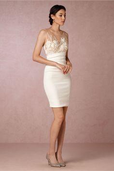 chic modern little white dress   Beverly Dress from BHLDN