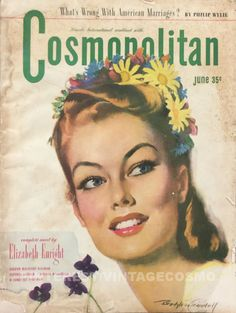 "Cosmopolitan magazine, JUNE 1946 Artist: ""Bridesmaid"" Bradshaw Crandell"