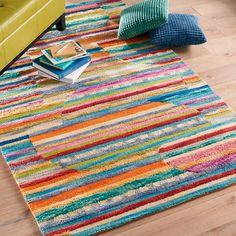One of our most whimsical rugs, the Jubilee Rug delivers a handmade kaleidoscope of color and texture. In a departure from the typical striped pattern, the    Jubilee's vibrant horizontal stripes offset in subtly circular patterns. Some stripes are made with tufted wool felt using a technique called chindi for    an overall effect that is richly textural and riotously colorful.            Dynamic wool rug with riotous stripes, colors, and chindi styling                100% wool with c...
